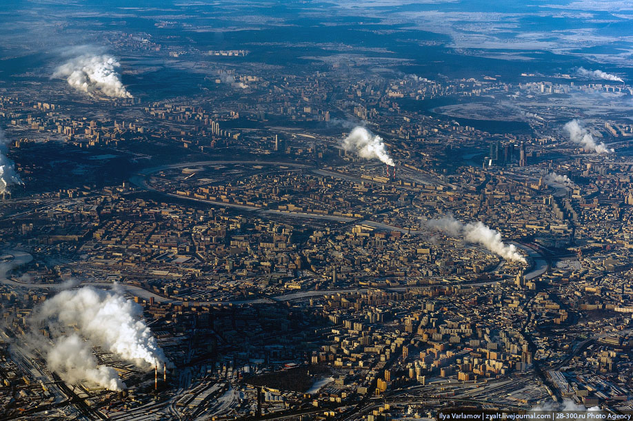 Moscow From The Plane