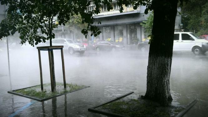 Asphalt Is Boiling In Kiev