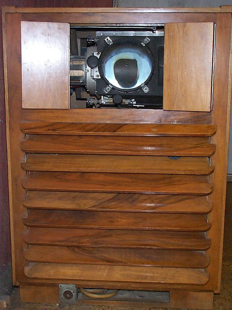 Projection TV Apparatus of the Soviet Past