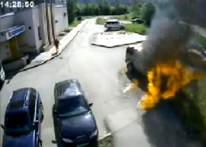 Hummer Burned to the Ground