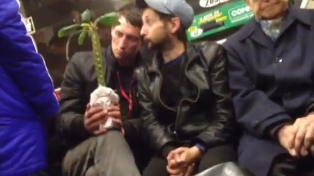 A Couple of Florists In the Subway