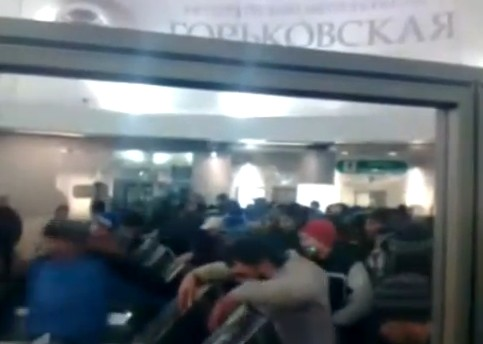 Meanwhile In the Subway of Saint Petersburg