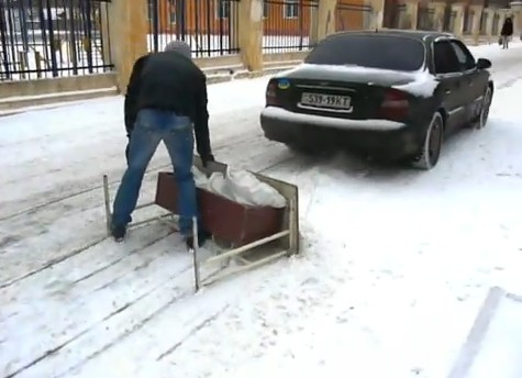 How Students Clear Snow Away