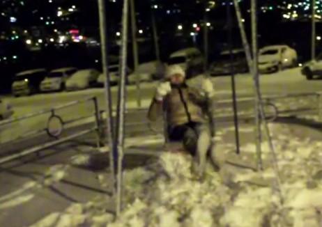 Video: Girl Goes On the Swings