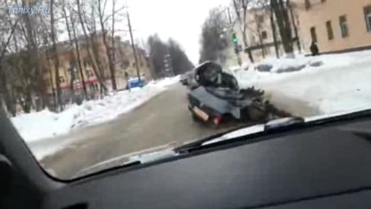 Video: Completely Wrecked Car Looks For More Troubles