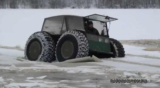 Video: DIY All-Terrain Vehicle On the Thin Ice