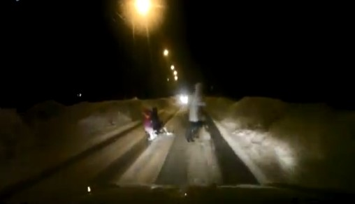 Video: Careless Mother On the Road