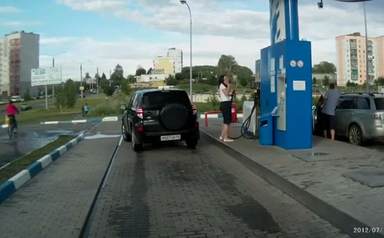 Video: First Time At the Gas Station