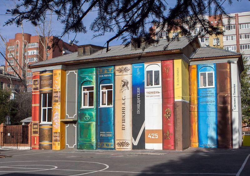 Houses Turn Into Bookshelves