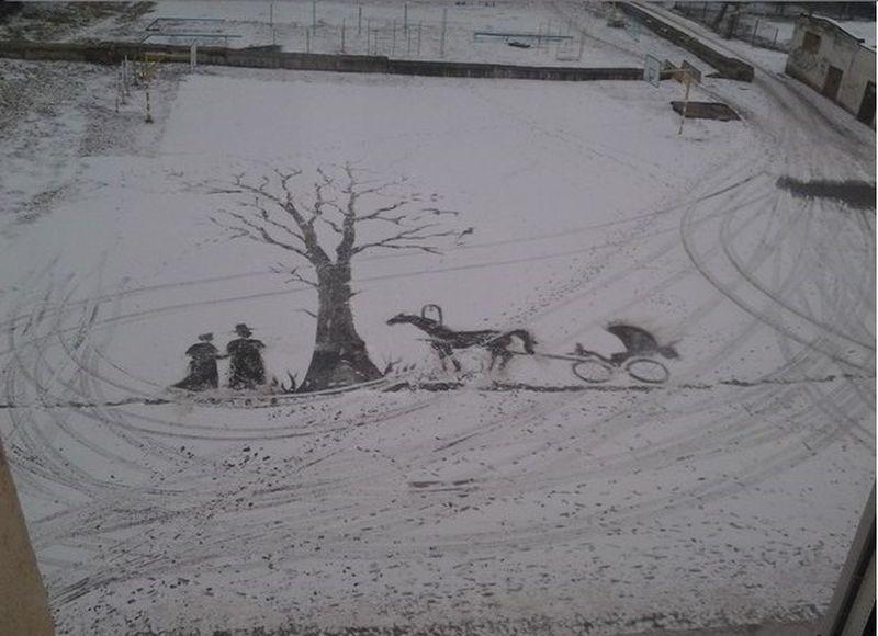 Russian Snow Artist