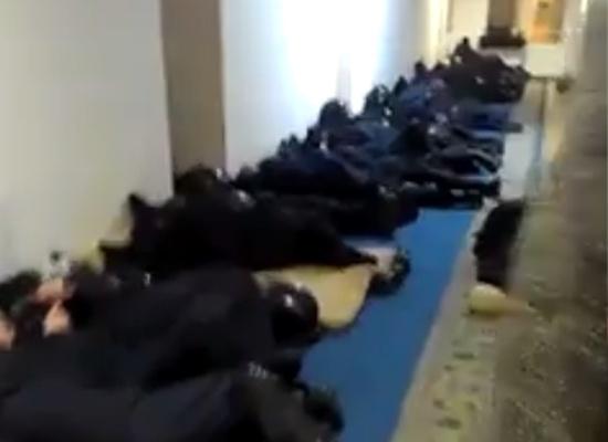 Deserved Sleep of the Ukrainian Police