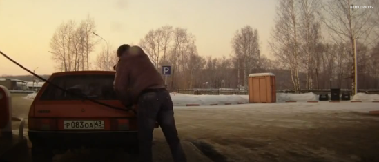 Russian Chuck Norris at the Fuelling Station