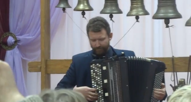 Bach Music Played On Accordion