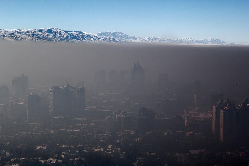 City Under Smog Cover