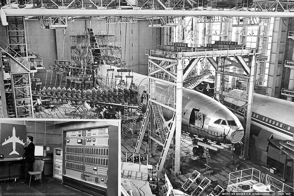 Rare Photos of Soviet Planes Assembly