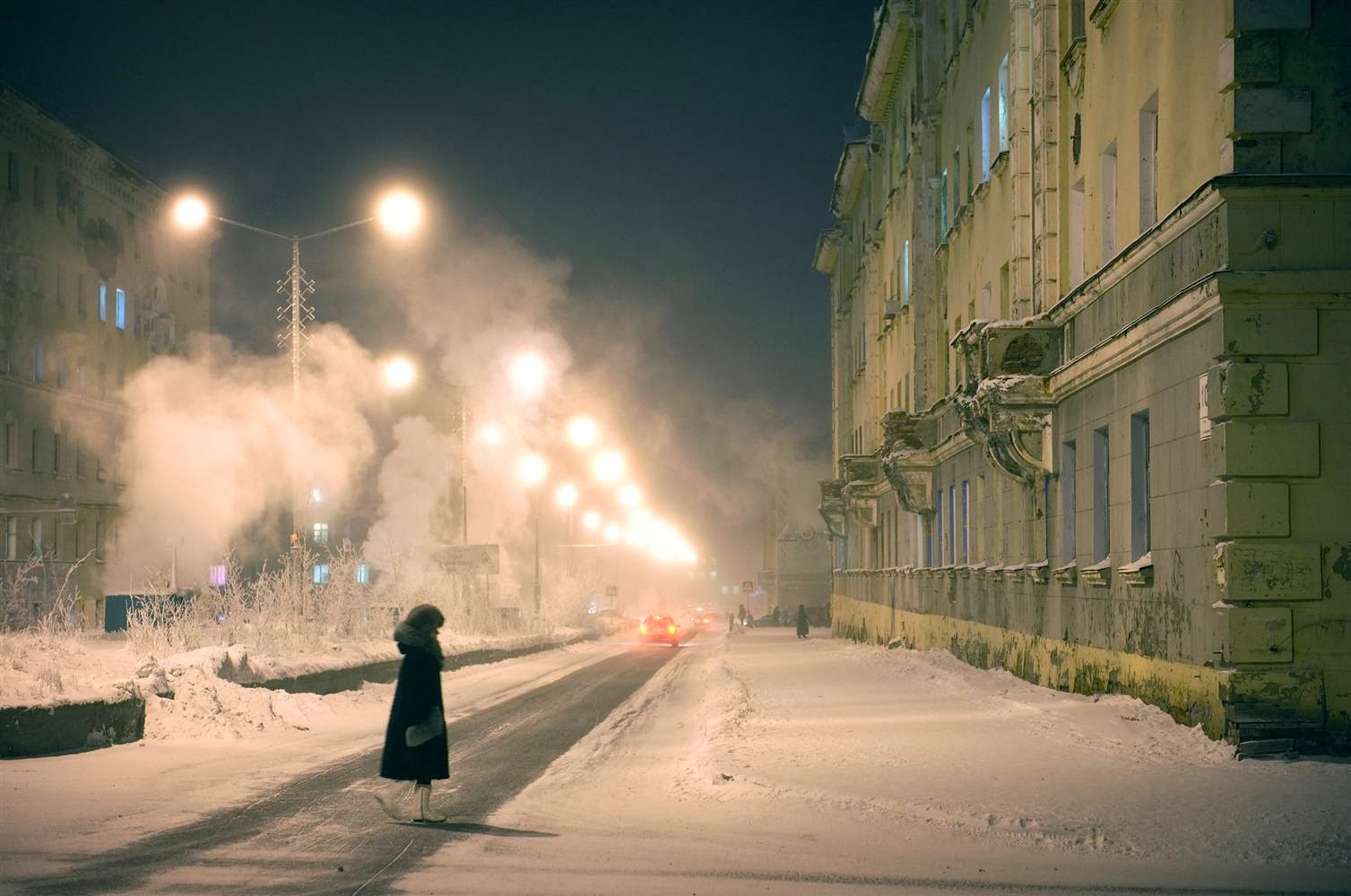 One of the coldest cities in the world, Norilsk has an average yearly temperature of 15 degrees Fahrenheit