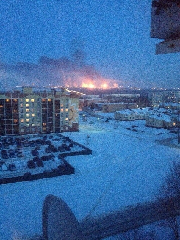Largest Oil Refinery in Europe is on Fire