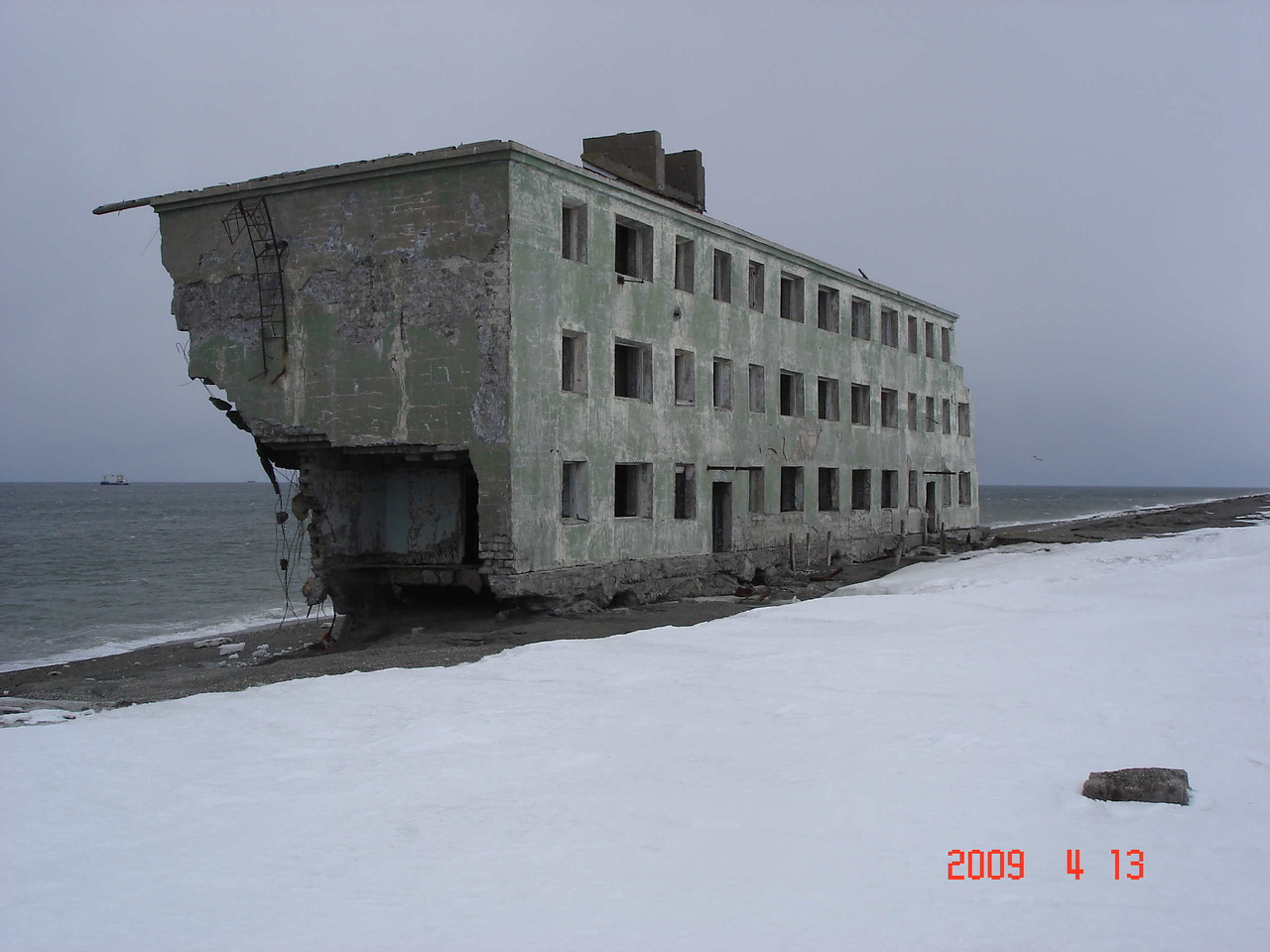 Abandoned Houses on the Beach