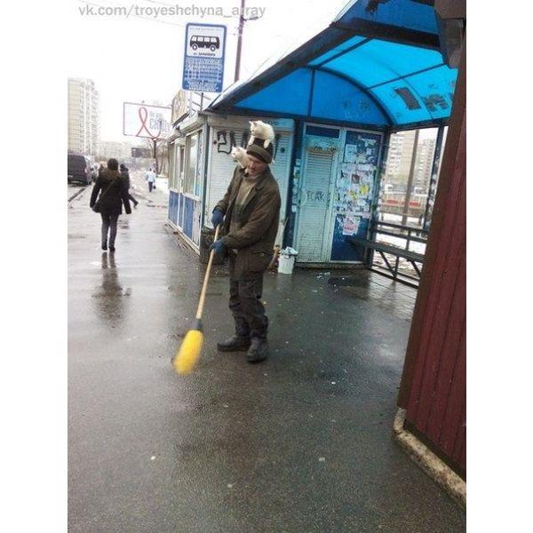 Street Sweeping in Style from Kiev
