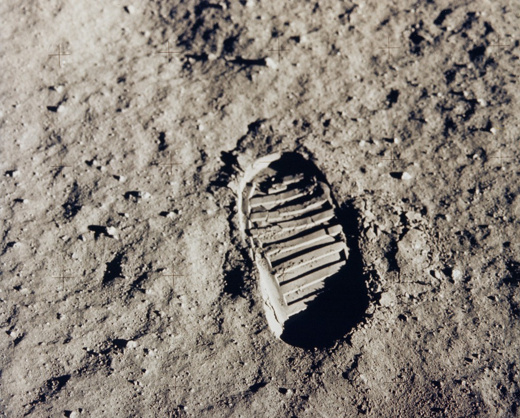 First foot print on the moon