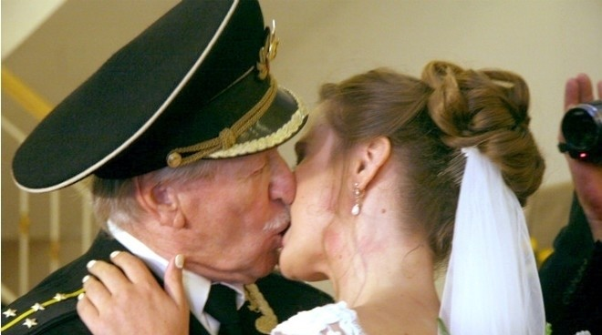 Russian 84 year old actor Married 24 year old girl