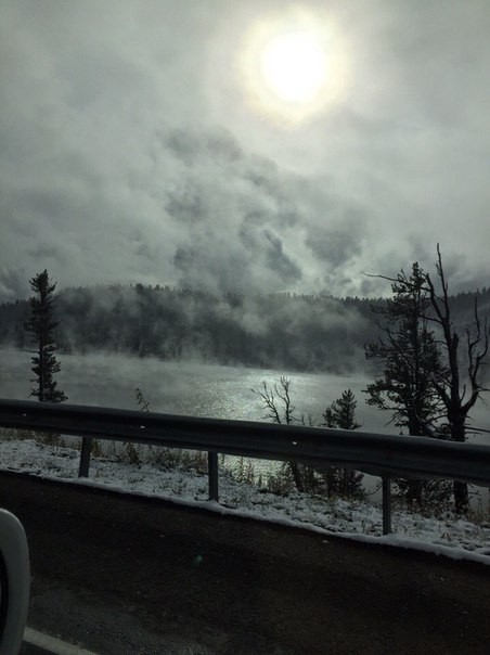First Snow in Krasnoyarsk City