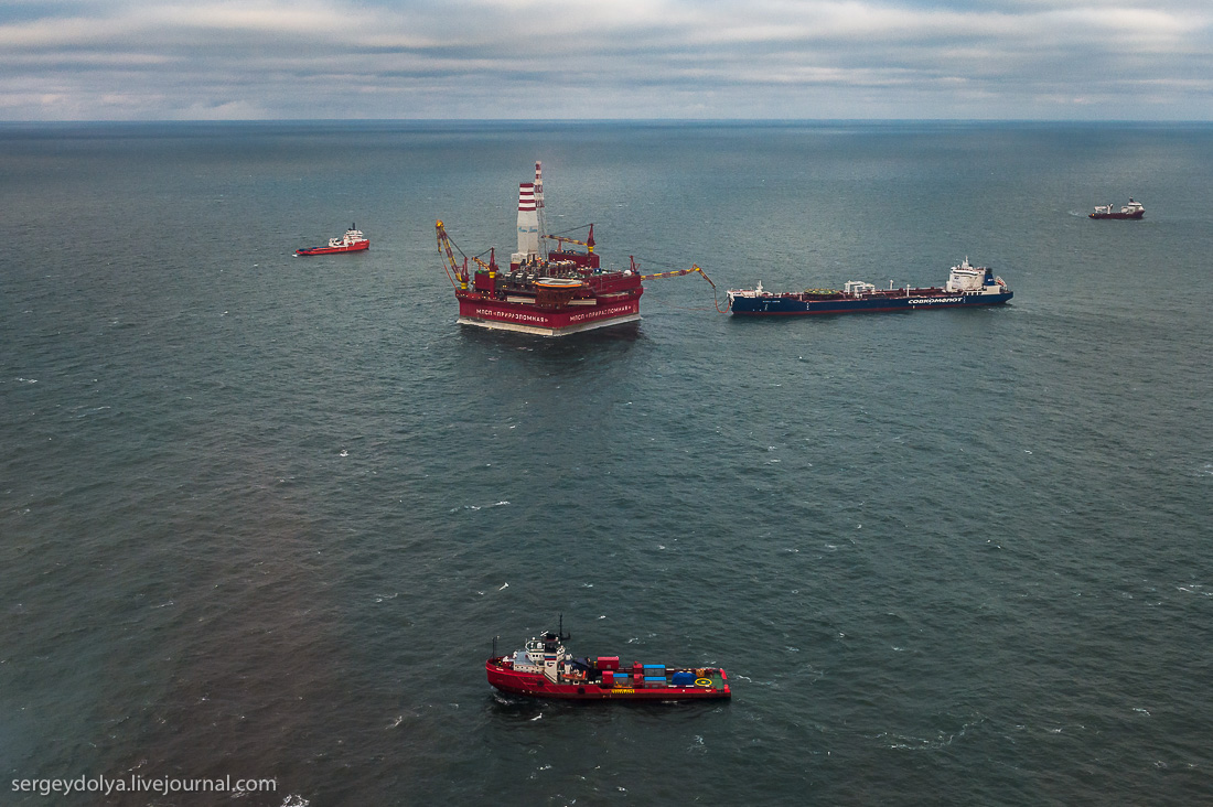 Exciting Journey to the Offshore Platform For Arctic Oil Production