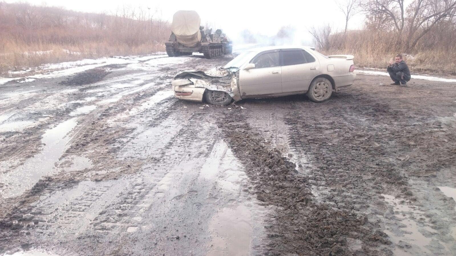 Self Propelled Mortar Tulpan vs Toyota Camry