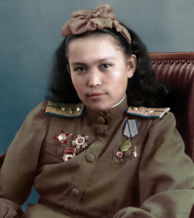 "Hiuaz Dospanova, 46th ""Taman"" Guards Night Bomber Aviation Regim"