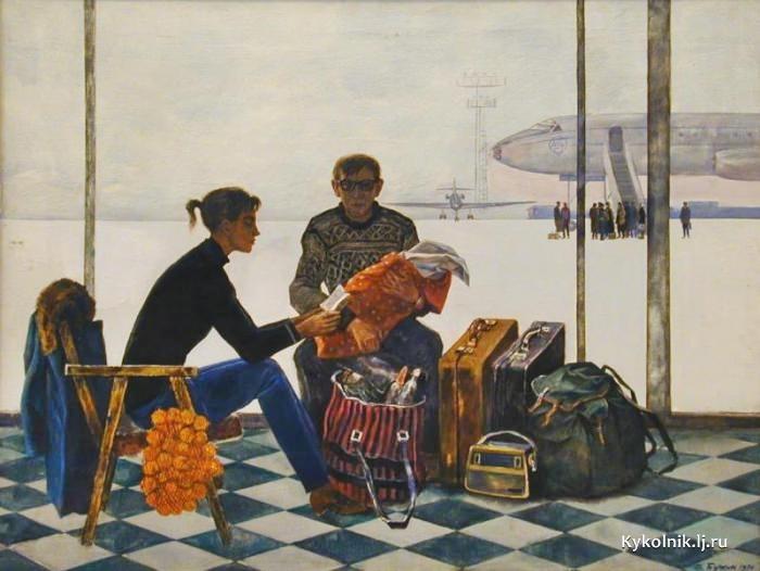 Бучкин Дмитрий Петрович (Россия, 1927) «Строить новые города» 1972