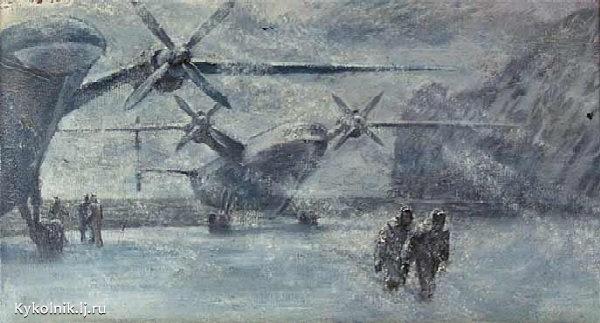 Левант Владислав Львович (Россия, 1931-1978) «Гидросамолет» 1970