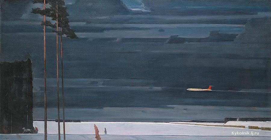 Нисский Георгий Григорьевич (Россия, 1903-1987) «Над снегами» 1960