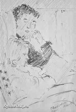 Пименов Юрий Иванович (Россия, 1903-1977) «В самолете»