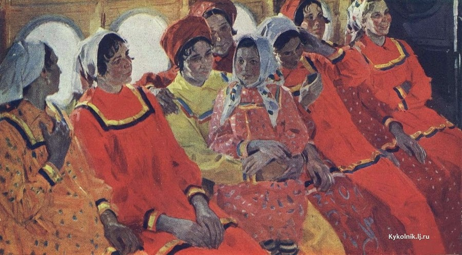 Самсонов Евгений Иванович  (Россия, 1926) «В самолёте»