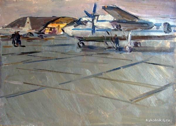 Черноусенко Владимир Петрович (Россия, 1932-2000) «Аэродром» 1975