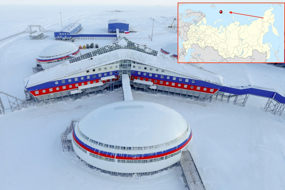 Shamrock: Russian most northern military base, exterior and interior photos