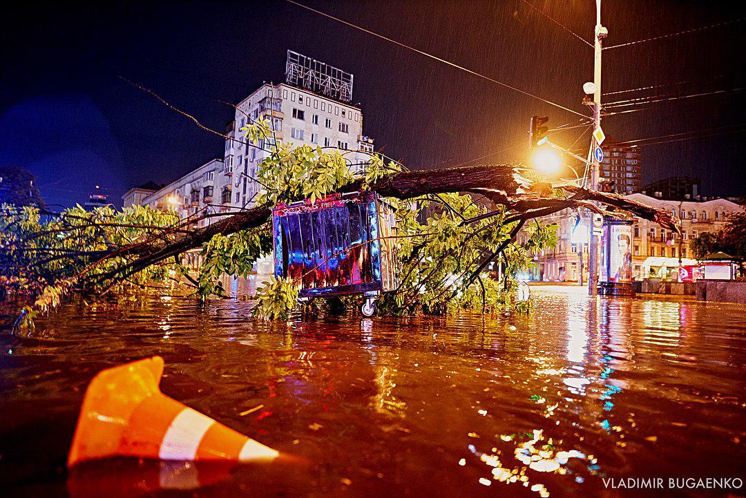 Kiev Had a Strong Flooding Last Night