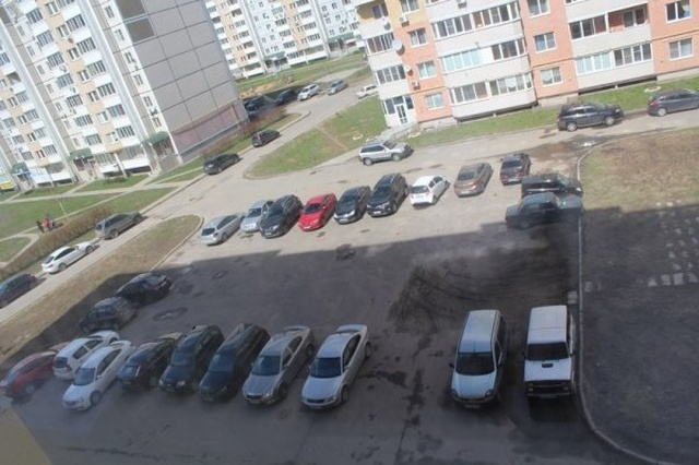 Parking Lot Before After the Markings, Proves People Need Organization