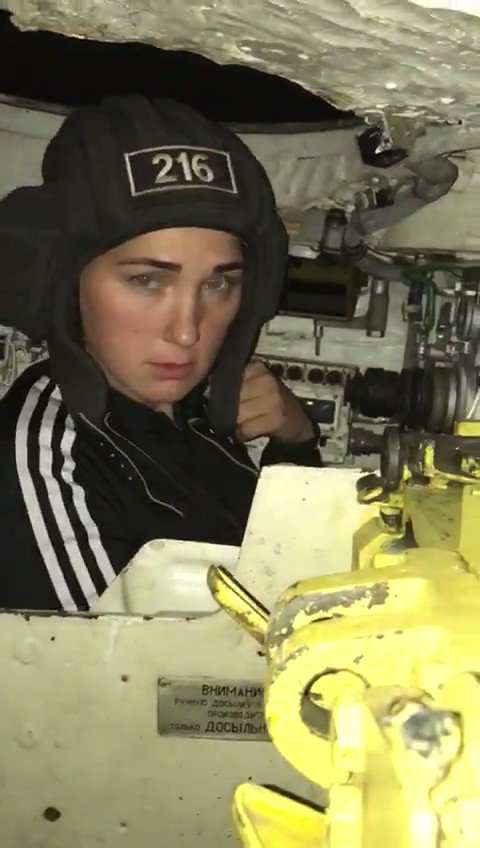 Tank Crew Member Brings His Woman to Work [video]