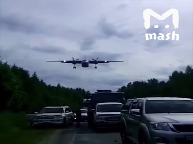 A few Military Airplanes Landed on Highway [video]
