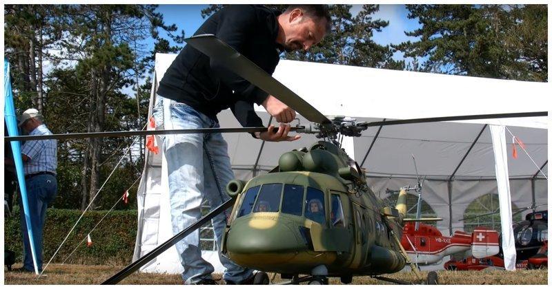 Stunning Huge Mi-8 Helicopter R/C Model