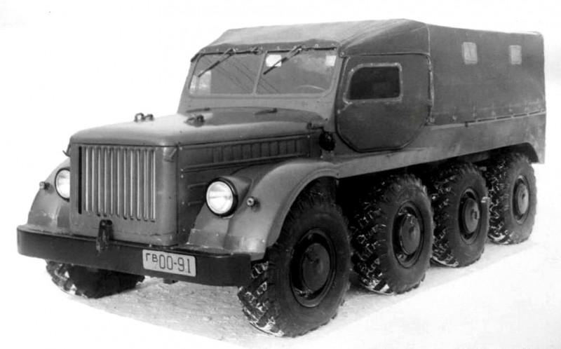 An Experimental Soviet Swamp 8x8 Truck GAZ-62B the Grandfather of BTR