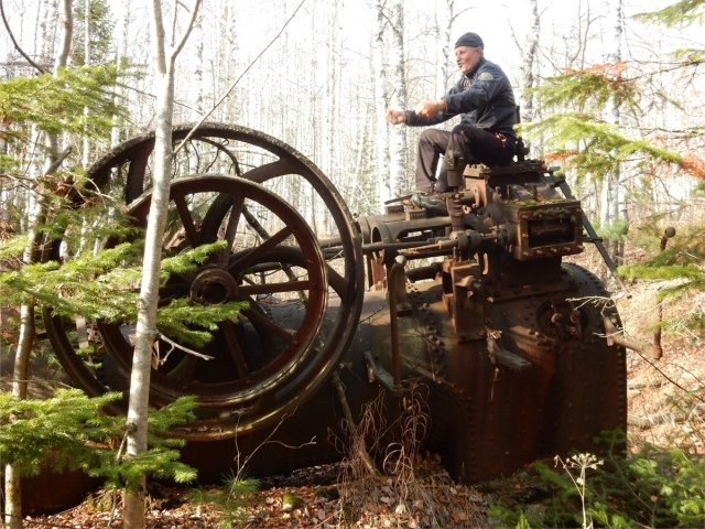 An Abandoned Steam Machine in Siberian Woods