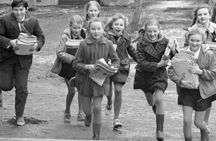 Education For Soviet Children: Wastepaper Collection