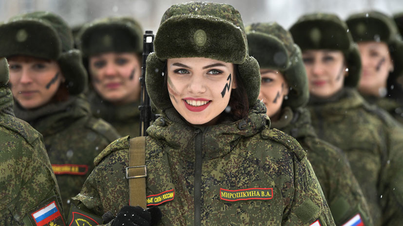 Strong And Beautiful: Russian Military Ladies
