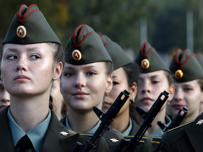 First year cadets of the Military University of Communication attend an oath-taking ceremony in St.Petersburg