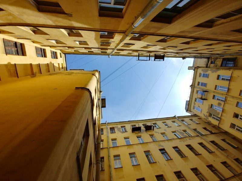 I Come to Saint Petersburg to Look Up At the Sky Thru Buildings