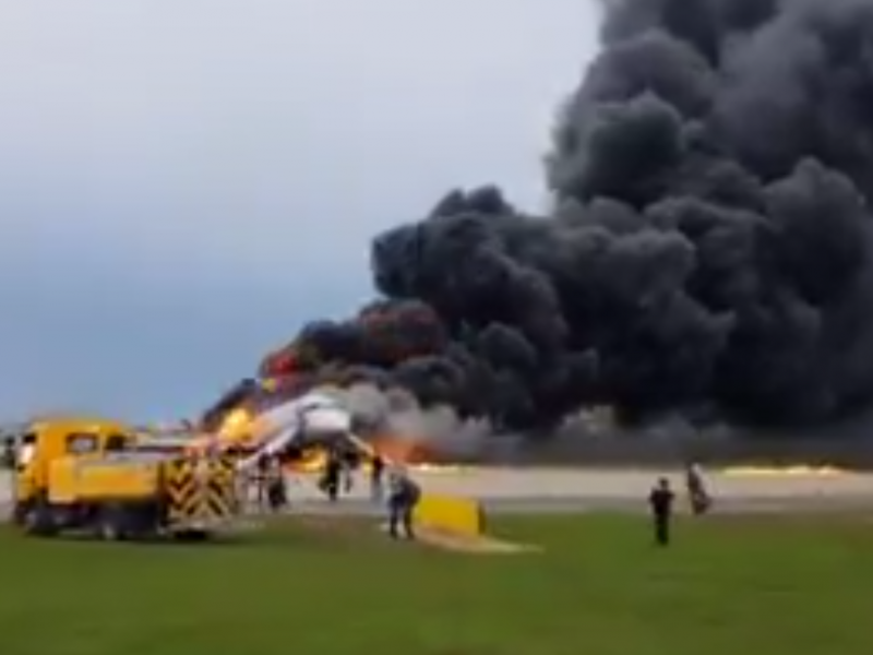 Urgent: Passenger Plane Burning In Moscow