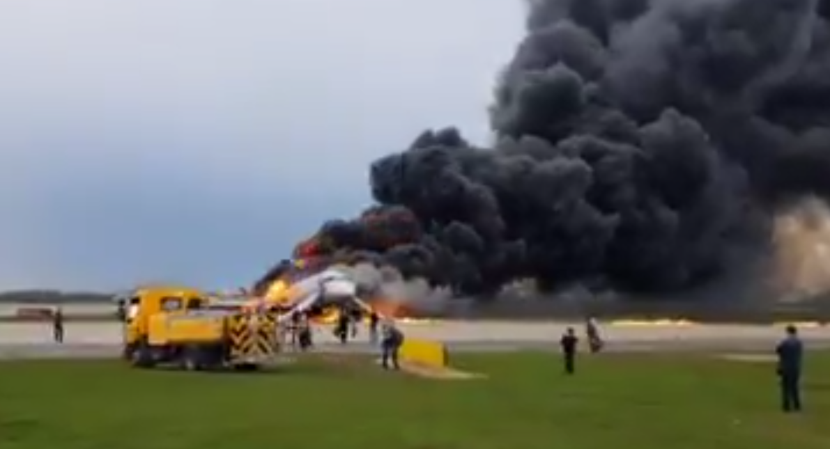 Urgent: Passenger Plane Burning In Moscow