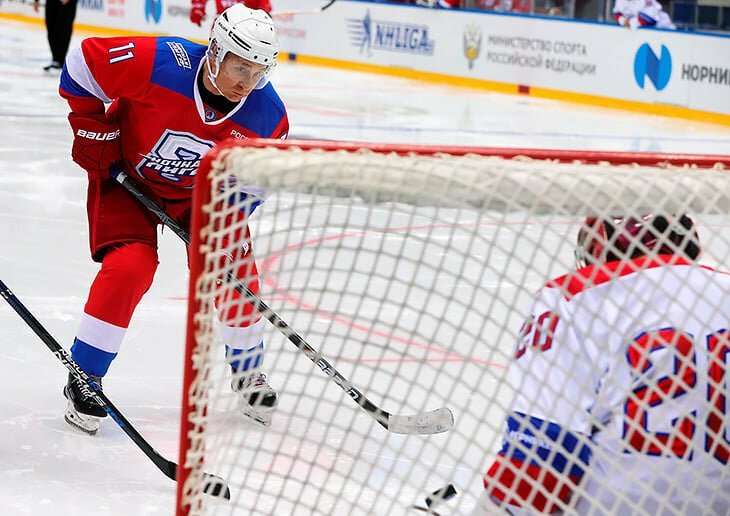 Putin Plays Hockey And Scores Eight Goals!